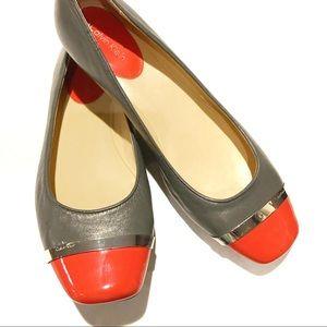 Calvin Klein • All Leather Flat• Pash Style• Sz 8